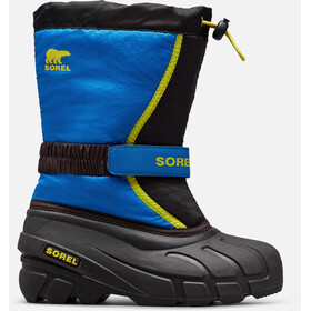 Sorel Flurry Boots Jongeren, black/super blue